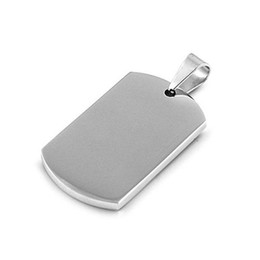 Wholesale 100pcs hot Blank Engravable Stainless Steel Dog Tag Military Shape Men Pendant for boys without chain