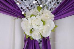 Descuento las cabezas de flor clips 6pcs / lot caliente de la decoración de la boda contexto cortina de materiales de construcción evento 6 cabezas de los apoyos de la boda del clip de la flor del partido decoraciones