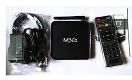 Acheter en ligne Amlogic android-New Metal MXQ M12 Amlogic S805 Quad Core Android 4.4 Kitkat 4K 1 Go / 8 Go XBMC WIFI Airplay Miracast meilleure boîte de tv M6 intelligent que