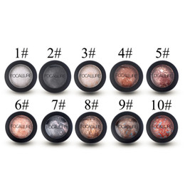 Wholesale Hot Colors Optional Baked Powder Eyeshadow Eye shadow Palette in Shimmer Metallic Eyes Makeup Hot New