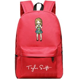 Cartoon Taylor Swift backpack Nice girl school bag Swan daypack Quality schoolbag New game play day pack