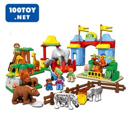 [New arrival] [Hot sale] Teri puzzle blocks particles toy set elephant lion hippopotami giraffes alligator for Crocodile