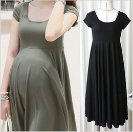 Summer Fashion Maternity Dresses Clothes For Pregnant Women Clothing O-neck Short Sleeve Slim Pregnancy Dress Wear 2016 Pregnancies dress