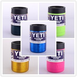 Wholesale Hot Sale oz ten colors Colster can Yeti Coolers Rambler Colster YETI Cars Beer Mug Insulated Koozie oz Cups Drinkware