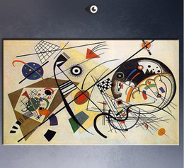 Wholesale Durchgehender Strich By WASSILY KANDINSKY High Quality Genuine Handmade Home Wall Decor Abstract Art oil Painting On Canvas customized size