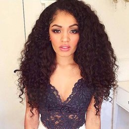 8A Quality Loose Curly Full Lace Curly Weave Human Hair Wigs Virgin Brazilian Full Lace Wig Unprocessed Glueless Front Lace Wigs