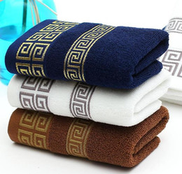 Wholesale Pure cotton towel high quality with dark blue white and khaki three color cm branded new product special price