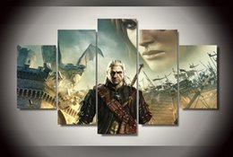 5 Piece Unframed HD Printed the witcher 2 assassins of Painting Canvas Print room decor print poster picture canvas Free shipping
