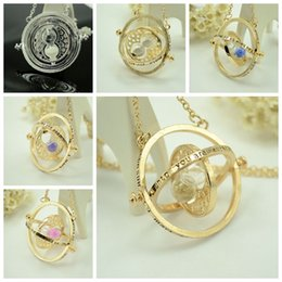 Wholesale Harry Potter Necklace Time Converter Harry Potter Hermione Granger Rotating Time Turner Necklace European and American Popular Colors
