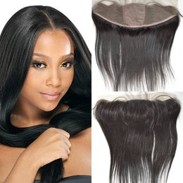 13x4 Silk Base Lace Frontal Closure With Baby Hair Virgin Brazilian Straight Hair Silk Top Frontal Closure G-EASY