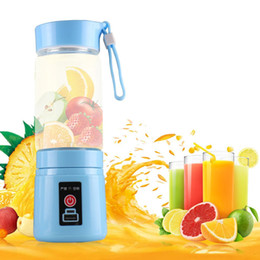 Wholesale 380ML Rechargeable USB Electric Fruit and Vegetable Cup Juicer with mAh Power Bank Portable Juice Shaker Mixer Bottle for home