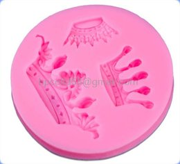 Wholesale DIY D silicone baking mold shape silicone cake mold fondant crown round molding tool CD F528