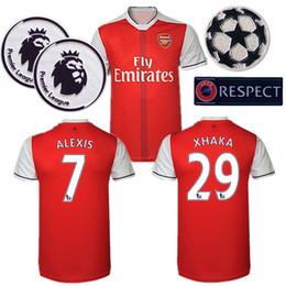 Wholesale Whosales Discount ArsEnAlLLSS Jerseys Soccer Jersey football Shirt Ozil Giroud Wilshere Ramsey Alexis Sanchez Soccer Jersey XHAKA