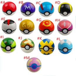 Wholesale 13Styles Cute POKE Pokeball Mini Model Classic Anime Pikachu Poket monster Ball Action Figures Toys cm