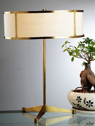 Wholesale New High End Simple Special Modern Brass table lamp AC V V E27 W desk lamp reading bedroom study table lamp