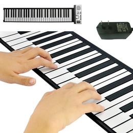 Piano flexible rueda para arriba de piano con teclas suaves (61 teclas, 128 tonos sintetizados, 100 ritmos preajustados desde enrollar 61 teclas fabricantes