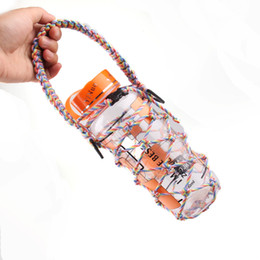 Wholesale New Sport Paracord Flask Handle Survival Water Bottles handle Strap Outdoor Camping Water handle