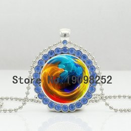 Wholesale New Earth Necklace Planet Crystal Pendant Jewelry Solar System Ball Chain Glass Cabochon Crystal Necklace