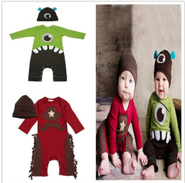 Wholesale halloween Newborn Clothes Baby Boys Rompers Costumes Lovely Child Letters Printed Jumpsuit One piece Romper Cotton Christmas clothing