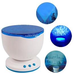 Ocean Sea Waves LED Night Light Projector Music Player Living Room Bedroom #B591