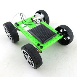 Wholesale New Mini Solar Powered Toy DIY Car Kit Children Educational Gadget Hobby Funny Worldwide DHL Free XL T03
