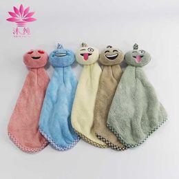 muchun Brand Emotion Faces Hand 80% Natural Cotton Towel Soft Cute Washrag Fresh Style Home Hand Towel 32*20cm