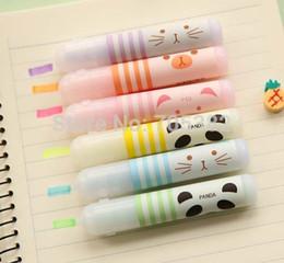 Wholesale colors pack Kawaii animal farm mini highlighter pen Office supply zakka School stationery pens SS a309