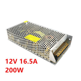 ON Style 12V 200W 16.5 A Switching Power Supply Adapter 12V LED Strip Transformer Free Shipping