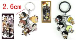Free Shipping Classic Anime Attack on Titan Keychains Metal Figures Pendants Charms Key Ring 10pcs lot wholesale