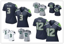Wholesale 2016 hot sale women football Jerseys Russell Wilson Seattle jerseys Seahawks elite game authentic football shirt size S XL