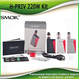 Authentic Smok H-Priv starter Kit 220w H-priv TC Box Mod genuine 100% Micro TFV4 basic Tank Innovative Trigger Style Firing Button 2218025