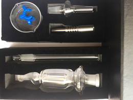 A set !!Gift box high quality Nectar Collector two function kit glass bong Inverted Titanium nail Plastic Clip with oil bowl glass bong