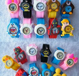 Wholesale Fashion Silicone watch Animal cartoon Snap Slap watch children Sport Watches Multicolor Jelly Watch Unisex mixs color