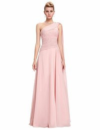 Pink long One-Shoulder prom dresses 2019 lace ladies formal dress Sleeveless Arabic Streamer celebrities prom dress party speicial dress