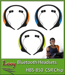 Wholesale HBS hb HBS850 Wireless Headphone Super Bass bluetooth Sports Neckband Tone Active Stereo Headsets In ear Earphone VS HBS800 HBS900