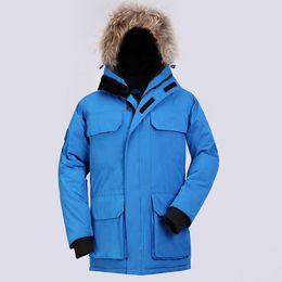 Wholesale Winter Brand Men Down Coat jacket warm fashion male overcoat parka outwear cotton padded hooded down coat