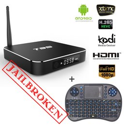 Wholesale Amlogic S905 Quad core Set Top Box Android gb gb T95 Smart TV Box come with rii mini i8 G Wireless Keyboard Air Mouse