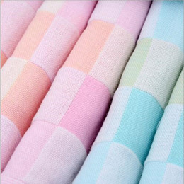 Wholesale 1 New Cotton Gauze Squares Bathing Towel Thin Style Plain Soft Absorbent Face Washing Towel In Summer Good Quality