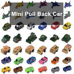 Al por mayor de la ingeniería en Línea-Zorn juguetes Mini-Tire hacia atrás del coche de plástico de ingeniería vehículos coche / avión / coche de la policía / militar vehículos / modelo de coche / moto por mayor 58 del estilo