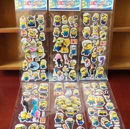 Wholesale Zootopia Minions Avenger sticker D Cartoon party Decorative book Stickers Patrol dog Batman paper game Children gift toys