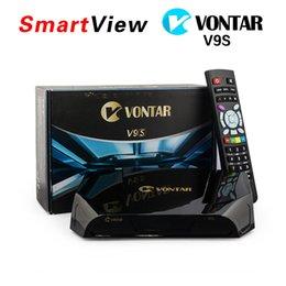 Wholesale Genuine VONTAR V9S DVB S2 HD Satellite Receiver Wifi Build in CCCAMD NEWCAMD Weather Forecast Miracast IPTV BOX same as Openbox V9S