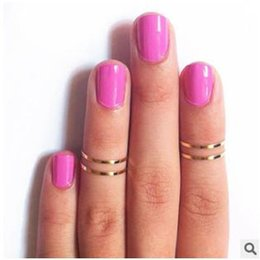 Wholesale Women Band Midi Ring New Simple Wild Polished Knuckle Nail Ring joint superfine aesthetic Women Jewelry