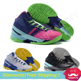 Wholesale New Basketball Boots sneakers Curry signature Sports Boots best quality curry II discount brand stephen curry shoes fast shipping US siz