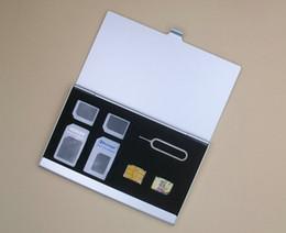 Wholesale 13 in Sim Card Storage Case Aluminum SIM Micro For Nano SIM card Pin Protector Case Box