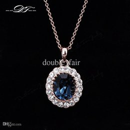 Classic CZ Diamond Crystal 18K Gold Plated Necklaces & pendants Wholesale Fashion Jewelry For Wonem Gifts Imitation Crystal Chains DFN288