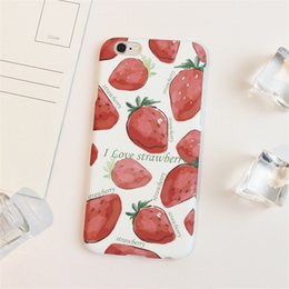 Elegant Design Cell Phone Cases Fruits Strawberry Cherry Watermelon Peach Phone Covers for iphone 6S 6 Plus 5s 83