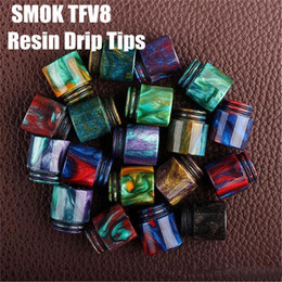Wholesale Vaporizer TFV8 Drip Tip Epoxy Resin Drip Tips for SMOK TFV8 Pretty pattern resin drip tips Mouthpiece for RDAs Vapor Tank