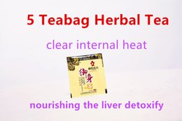 Freeshipping get 12.5g 5 Teabag Natural chinese organic herbal Teabags clear internal heat nourishing the liver detoxify Tea