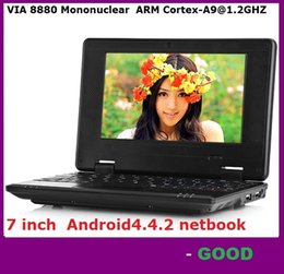 7 inch Mini Netbook VIA 8880 512MB RAM 4GB ROM Android 4.4.2 1GB 8GB Notebook WiFi HDMI Webcam Laptop DHL