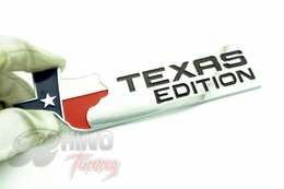 Wholesale Exterior Accessories Car Stickers TEXAS EDITION Trunk Boot CHROME Auto Car Emblem TEXAS Side Wing Auto Car Badge Sticker